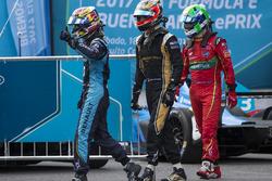 Sébastien Buemi, Renault e.Dams; Jean-Eric Vergne, Techeetah; Lucas di Grassi, ABT Schaeffler Audi S