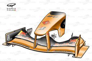 Переднее антикрыло и носовой обтекатель Arrows A23
