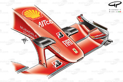 Переднее антикрыло Ferrari F60 (660). Модификация Гран При Бельгии