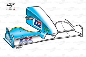 Benetton B200 2000 front wing