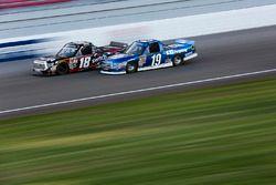 Noah Gragson, Kyle Busch Motorsports Toyota and Austin Cindric, Brad Keselowski Racing Ford
