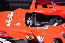 Ferrari SF70H detalle de cabina