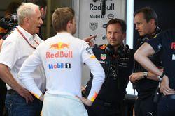 Dr Helmut Marko, Red Bull Motorsport Consultant, Max Verstappen, Red Bull Racing, Christian Horner,
