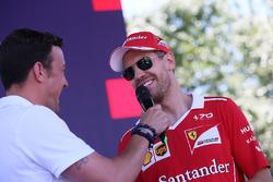 Sebastian Vettel, Ferrari, Will Buxton, NBC TV Presenter