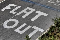 Road markings in homage to Colin McRae