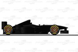 La ferrari F300 carbone pilotée par Michael Schumacher