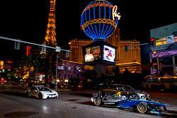 Sam Bird, DS Virgin Racing, leads Mitch Evans, Jaguar Racing in a I-Pace SUV concept car; Antonio Fe