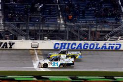 Johnny Sauter, GMS Racing Chevrolet takes the checkered flag