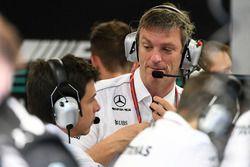 James Allison, Mercedes AMG F1 Technical Director and Toto Wolff, Mercedes AMG F1 Director of Motorsport