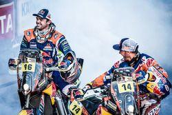 Winner #14 Red Bull KTM Factory Racing: Sam Sunderland and #16 Red Bull KTM Factory Racing: Matthias Walkner