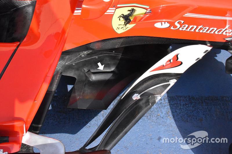 Элементы за дефлектором Ferrari SF70H