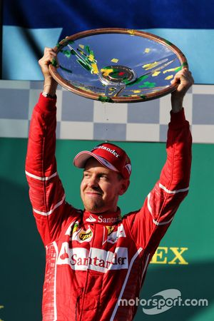 Podio: Sebastian Vettel, Ferrari