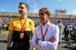 Remi Taffin, Renault Sport F1 Engine Technical Director, Alain Prost, Renault Sport F1 Team Special Advisor