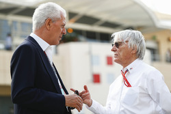 Marco Tronchetti Provera, Vicepresidente Ejecutivo y Director Ejecutivo de Pirelli, con Bernie Eccle