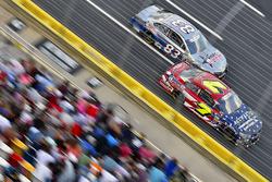 J.J. Yeley, Tommy Baldwin Racing, Chevrolet; Corey LaJoie, BK Racing, Toyota