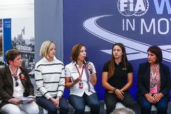 Susie Wolff, Claire Williams, Deputy Team Principal, Williams, Marta Garcia, Renault Sport F1 Team S