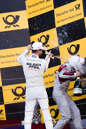 Podium: Maro Engel, Mercedes-AMG Team HWA, Mercedes-AMG C63 DTM and Mattias Ekström, Audi Sport Team Abt Sportsline, Audi A5 DTM