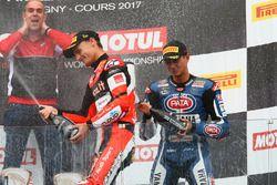 Podyum: Yarış galibi Chaz Davies, Ducati Team