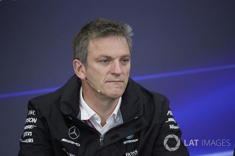 James Allison, Direttore Tecnico, Mercedes AMG F1, in nella conferenza stampa