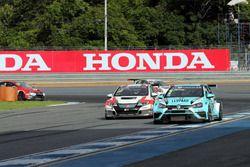 Жан-Карл Вернэ, Leopard Racing Team WRT, Volkswagen Golf GTi TCR, и Норберт Михелиц, M1RA, Honda Civic TCR