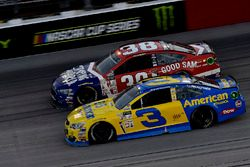 Остин Диллон, Richard Childress Racing Chevrolet и Дэвид Рейган, Front Row Motorsports Ford