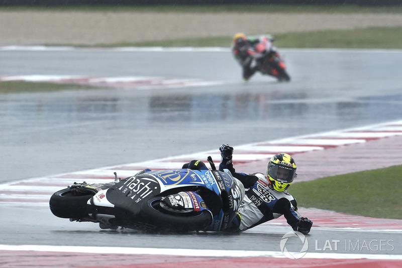 Isaac Viñales, SAG Racing Team, caída