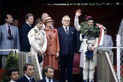 Podium: Race winner Riccardo Patrese, Brabham BT49D-Ford Cosworth, third place (later fifth place) E