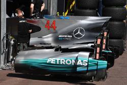 Mercedes-Benz F1 W08 Hybrid: Motorhaube