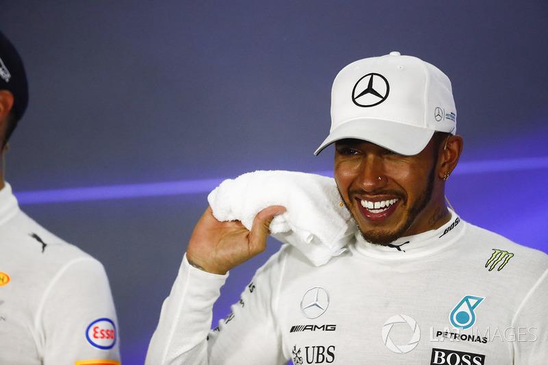 Conferenza stampa: il vincitore della gara Lewis Hamilton, Mercedes AMG F1