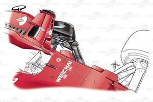 Ferrari SF70H: Windabweiser, GP Singapur