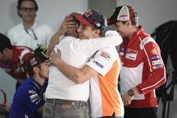 Marc Marquez, Repsol Honda Team, mit Giacomo Agostini