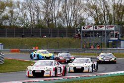 #9 Audi Sport racing academy, Audi R8 LMS: Elia Erhart, Christopher Höher; #8 Audi Sport racing acad