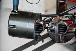 Ferrari SF70-H front brake duct and wheel hub