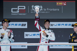 Podium: George Russell, ART Grand Prix,Nirei Fukuzumi, ART Grand Prix, Jack Aitken, ART Grand Prix
