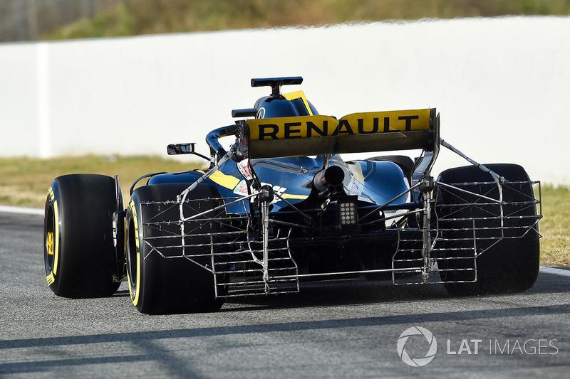 Nico Hulkenberg, Renault Sport F1 Team RS18 con un sensor aerodinámico.