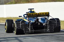 Nico Hulkenberg, Renault Sport F1 Team RS18, avec un capteur aéro à l'arrière