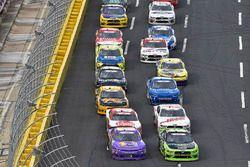 Ryan Truex, Kaulig Racing, Chevrolet Camaro Phantom Fireworks and Brad Keselowski, Team Penske, Ford Mustang Fitzgerald Glider Kits