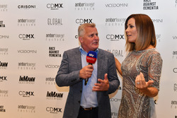 Johnny Herbert, Sky TV and Natalie Pinkham, Sky TV