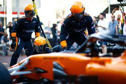 Práctica de parada en boxes de McLaren