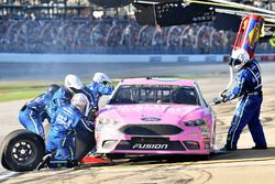 Trevor Bayne, Roush Fenway Racing Ford, makes a pit stop