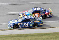 Chase Elliott, Hendrick Motorsports Chevrolet, Kyle Busch, Joe Gibbs Racing Toyota