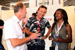 Bertrand Gachot, Nichole Galicia, Actress in the F1 Experiences 2-Seater garage