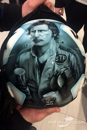 Il casco di Jeffrey Earnhardt, StarCom Racing Chevrolet