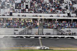 Brad Keselowski, Team Penske Ford Fusion celebrates his win