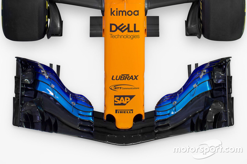 McLaren MCL33 detalle del ala frontal
