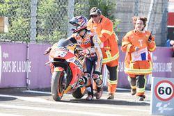 Dani Pedrosa, Repsol Honda Team après sa chute