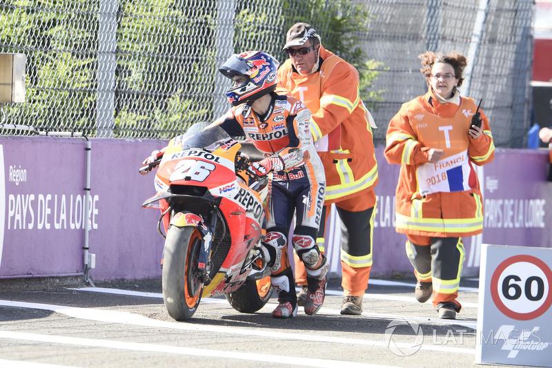Dani Pedrosa, Repsol Honda Team (9 kecelakaan)