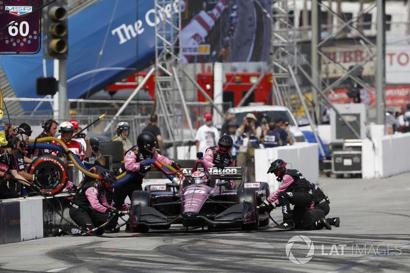 Jack Harvey, Meyer Shank Racing with Schmidt Peterson Honda, pitstop