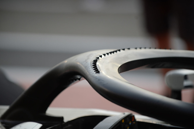 Haas F1 Team VF-18 halo detail