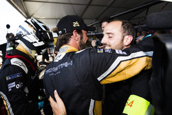 Jean-Eric Vergne, Techeetah, celebrates with Andre Lotterer, Techeetah, after winning the championship